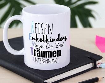 Keramik Renten Becher Pott Rentner Tasse Mug cup Im Ruhestand Kaffeebecher