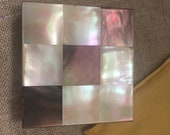 Vintage Zell 5th Avenue Mother of Pearl compact- vintage mirrored compact