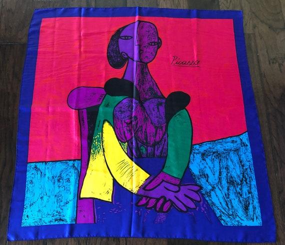 Vintage Picasso silk scarf-Cubism Pablo Picasso la