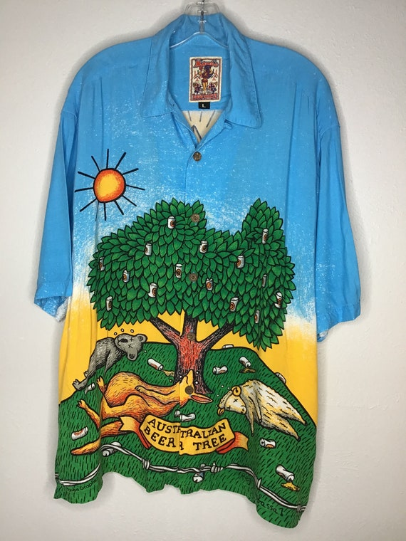 Mambo Loud Shirts Australian Beer Tree Shirt 1999