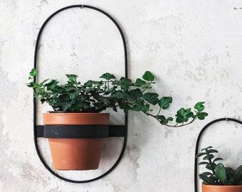 2 Wall Planters, Geometric Shape Planter, Black Hanging Planter, Metal Wall Planter, Plant Holder