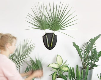 Wall Planter,  Wall Vase , Indoor Wall Planters, Modern Flower vase, Black wall decoration