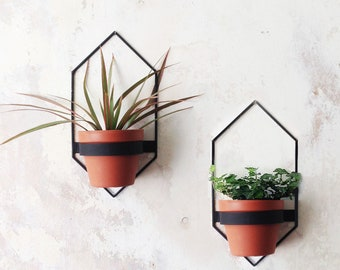 2 BIG Wall Planters - Geometric Shape Planter