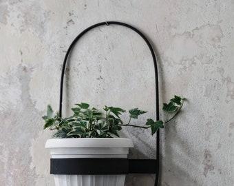 2 SMALL Wall Planters, Geometric Shape Planter, Black Hanging Planter, Metal Wall Planter, Plant Holder