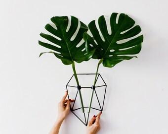 Test Tube Wall Vase, Wall Decor, Minimalist Vase, Metal Vase, Wall Flower Vase, Geometric Vase, Polygon Heart,  Wedding Decor