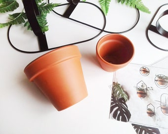 2 Ceramic Pots - Size fits Eco Deer's decor (120 mm and 90 mm in diameter)