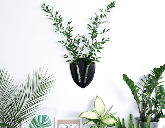 Indoor Planters Modern Wall Decor Test Tube Vase Wall Vase Etsy