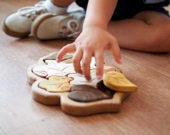 Wooden Leaf puzzle, Wooden puzzle