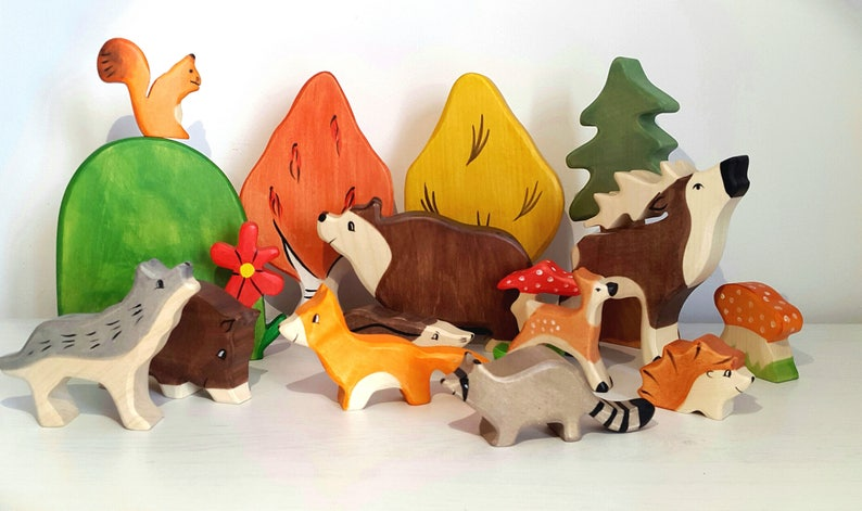 Organic Toy Ecofriendly toys Raccoon Toy learning toys Baby shower Wooden Toy Waldorf Toys Wooden Animal Natural toy montessori toy