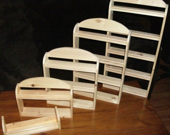 Hand Made Wooden Spice Rack - One to Six Shelves