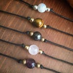 Healing Crystal Choker Necklaces! Customizable with 20 crystals to choose from!