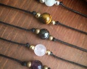 Crystal Choker Healing Crystal Choker Necklaces Customizable with 20 crystals to choose from