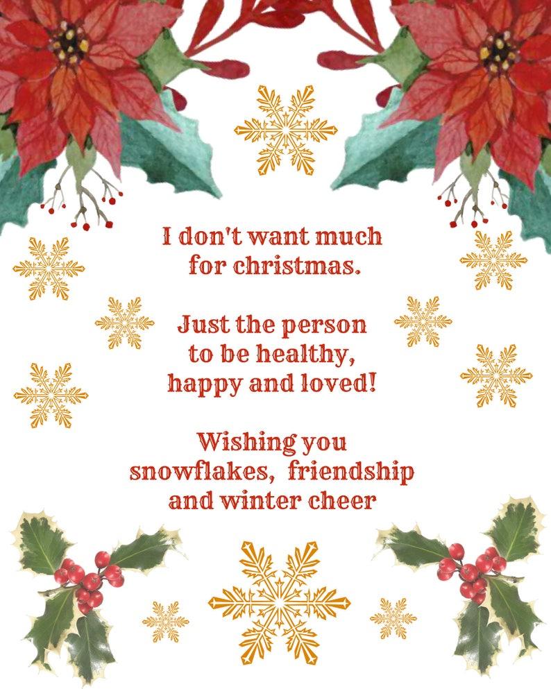 Christmas Poster.Christmas Gift Poster I Don T Want Much For Christmas Gift Poster Home Decor Poster Holiday Poster Printable Christmas Poster Poster