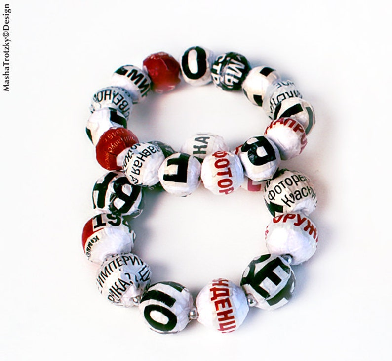 bracelet from NewsPaperWork jewellery collection image 0