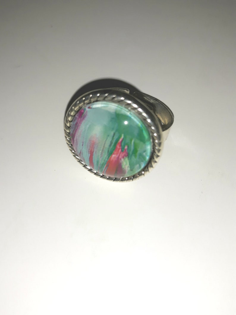 Coloured beeswax Ring