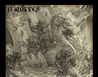 13 Wolves Invasion CD Horror Punk band from San Diego