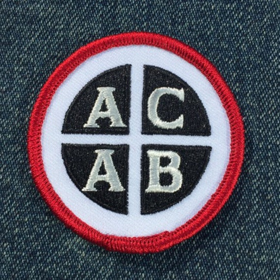 Embroidered ACAB Punk Patch Iron On style by Seven 13 Productions punk patch FTP