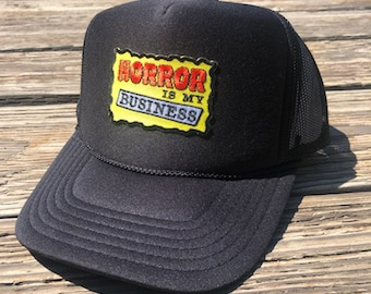 Horror is My Business Trucker Hat mesh Otto Cap by Blood Bath Products