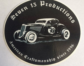 Seven 13 Productions Three Window Coupe Sticker