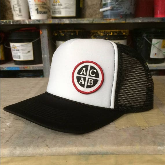 ACAB Trucker Cap by Seven 13 Productions skate punk patch on  3838fe5e9a5