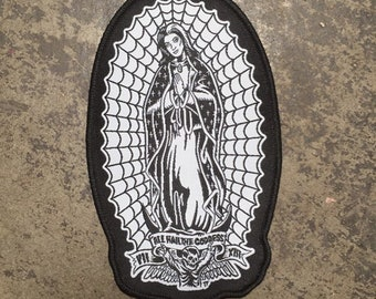 All Hail the Goddess II Virgin Lily Munster as the Lady of Guadalupe Woven Patch by Seven 13