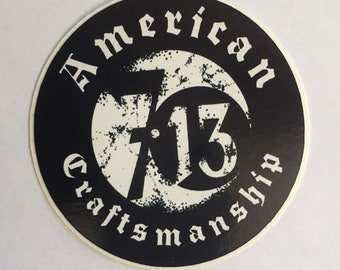 Seven 13 American Craftsmanship Logo Sticker