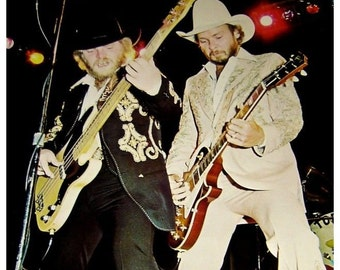 Lot of 5! Vintage 1970s ZZ TOP In CONCERT Blues Boogie Classic Rock Poster