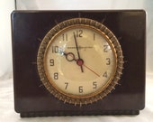 Telechron Art Deco Selector Electric Bakelite Mantel Clock 1930 39 s