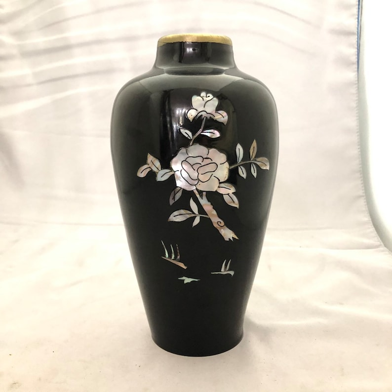 Vintage Decorative Crafts Inc Metal Vase Made In Korea