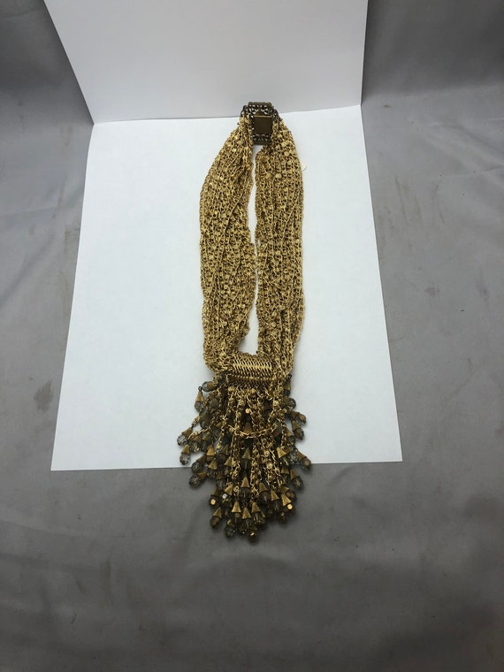 Geoffrey Beene gold necklace
