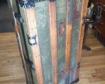 Large  Steamer Antique Trunk