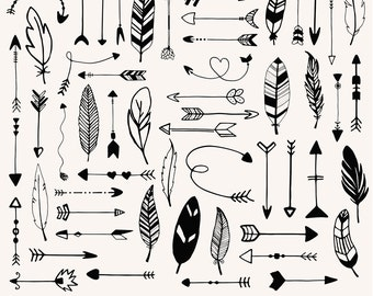 arrows and feathers etsy