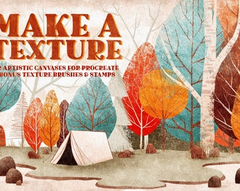 Make a Texture, canvas templates for Procreate, brush set for ipad, Paper texture for digital paintings, brushes for paintings, download