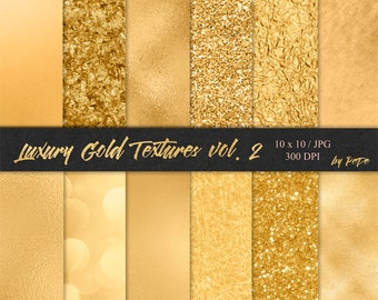 BUY 3 PAY FOR 2, Luxury gold digital paper, foil background, glitter textures, realistic gold, golden background, sparkly, paint, download