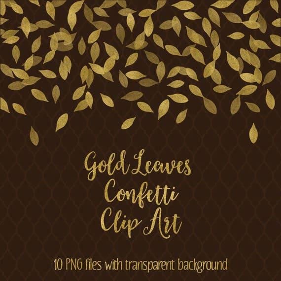 Kaufen Sie 3 Bezahlen Für 2 Blattgold Konfetti Clipart Digitale Konfetti Gold Glitter Grenzen Clipart Fallende Blätter Goldene überlagerung