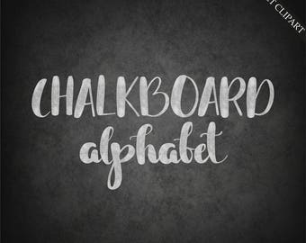BUY 3 PAY FOR 2, Chalkboard alphabet clipart, digital chalk font clipart, hand-lettering, chalk clipart, upper case, lower case, download