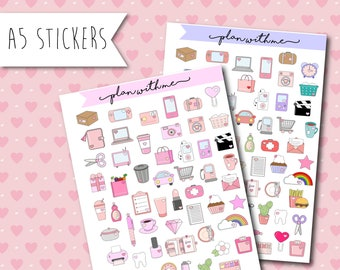 Plan With Me Stickers Planners - Daily Life Organization Stickers Board