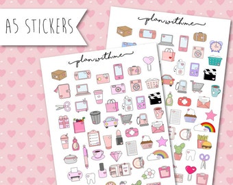 "Planners Stickers ""Plan With Me"""