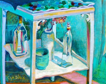 Winter Light, original still life painting on stretched canvas, 22 X 30-inches, by Cynthia Black