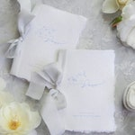 Personalized Wedding Vow book Set. Calligraphy His & Her Vow books. Custom Vow Booklets. Wedding Keepsake.