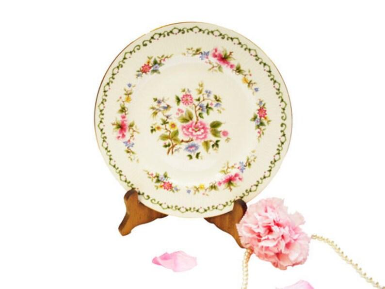 Pink Floral Plates Wedding Table Decor SALE Set of 6 Vintage Paragon Dinner Plates Tay San Bridal Shower Plate Dinnerware Set