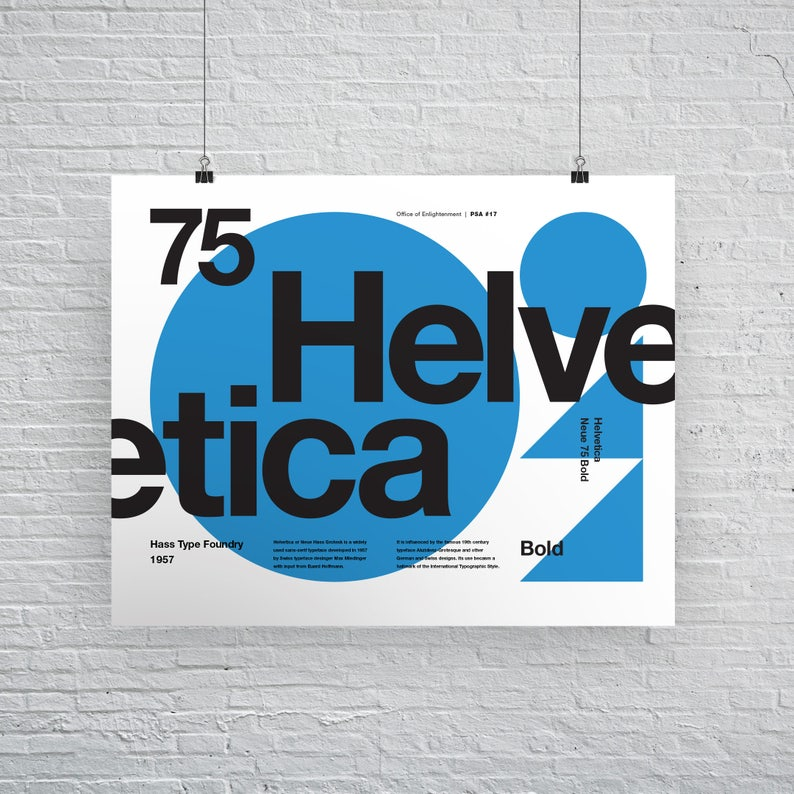 Helvetica Neue 75 Bold, Typographic, Swiss Typography, Quote, Black and  White, Modern Art, Wall Art, Architecture, Free Shipping