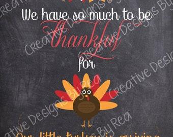 Little Turkey - Thanksgiving Pregnancy Annoucement