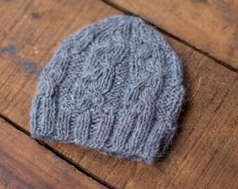 Grey Newborn Hat, Photo Props, Photography Props, Knit Baby Hat, Newborn Bonnet, Newborn Props, Girl Hat, Boy Hat, Newborn Knitted Hat