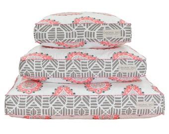 Pink Dog Bed, Modern Pet Beds, Dog Bed Pillow, Washable Dog Bed Cover, Pet Bed Furniture for Dog or Cat, Small Medium Large Dog Beds