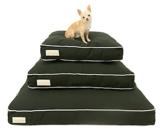 Black and White Dog Bed COVER | Designer Dog Bed SLIPCOVER | Unique Pet Bed Slipcover | washable cover | Pet Beds for a Dog or Cat | S M L