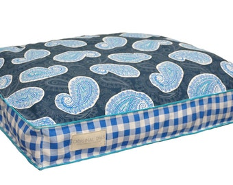 Blue Small Dog Bed, Pet Beds, Dog Bed Pillow, Washable Dog Bed Cover, Pet Furniture for Dog or Cat, Pet Pillow