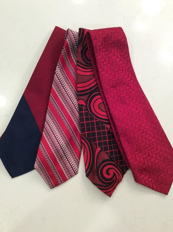 Set of 4 1970's Vintage Ties