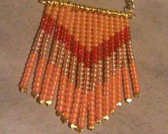 Necklace style navajo shades of oranges