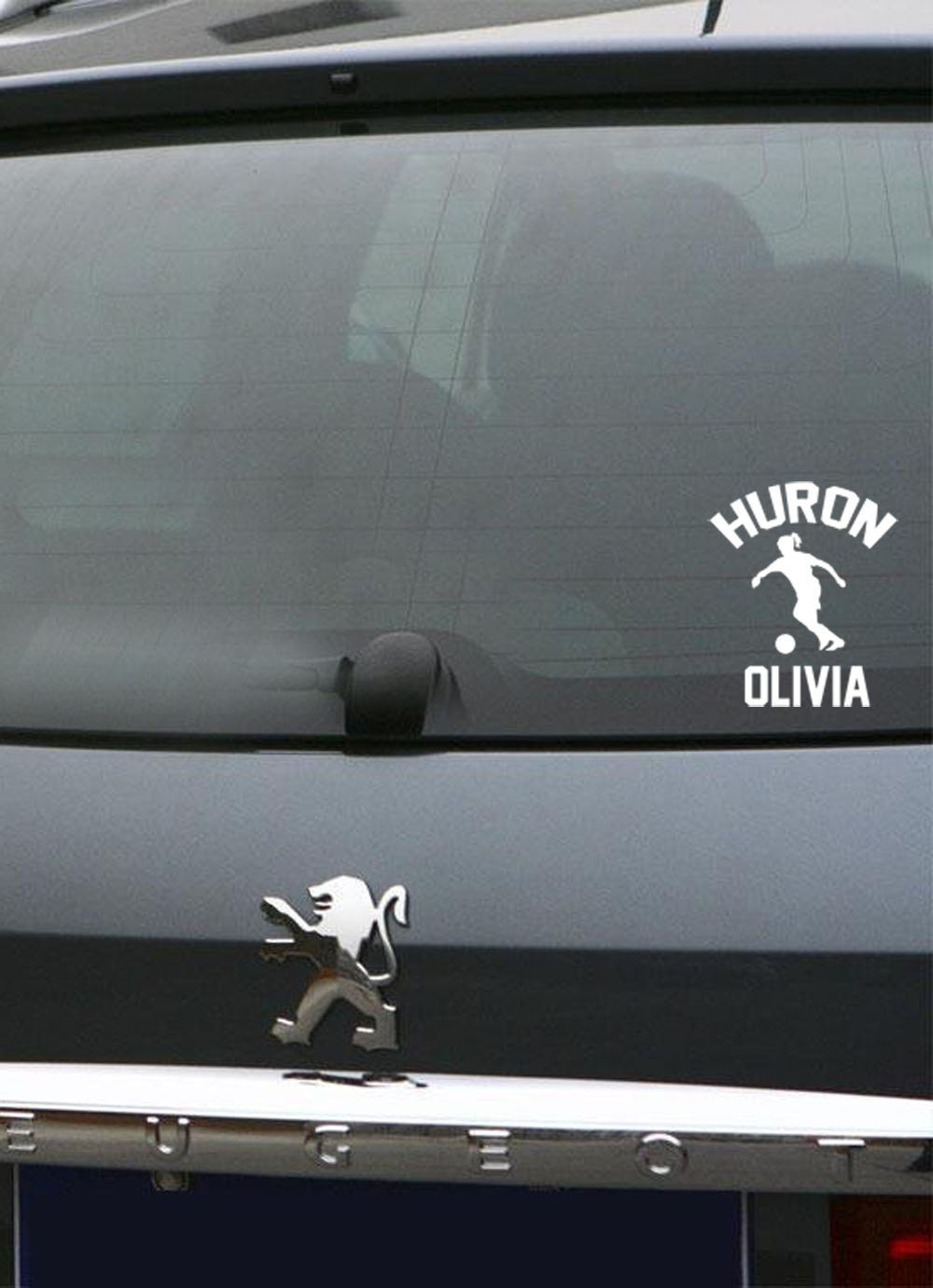 Soccer Player Customized Name Vinyl Car Decal Etsy